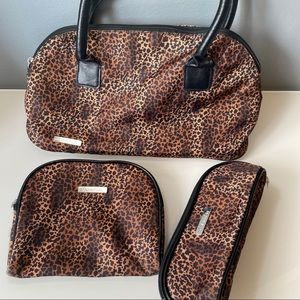 Calvin Klein | Leopard Print Tote & Cosmetic Bags